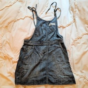NWT Levi's blue denim overall dress